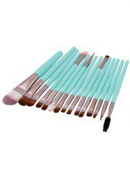 15Pcs Nylon Face Eye Makeup Brushes Set