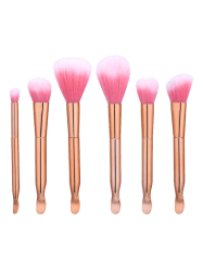 6Pcs Earpick Shape Nylon Makeup Brushes Set