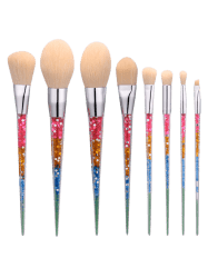 8Pcs Nylon Tapered Makeup Brushes Set - COLORMIX