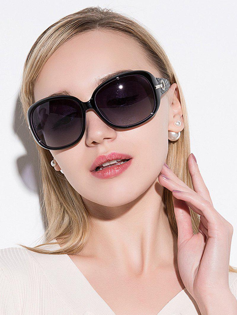 Rhinestone Decoration Anti UV SunglassesACCESSORIES<br><br>Color: BLACK PURPLE; Group: Adult; Gender: For Women; Style: Fashion; Lens material: Polycarbonate; Frame material: Other; Lens height: 4.6CM; Lens width: 5.1CM; Temple Length: 12.7CM; Nose: 1.5CM; Frame Length: 13.4CM; Weight: 0.1000kg; Package Contents: 1 x Sunglasses;