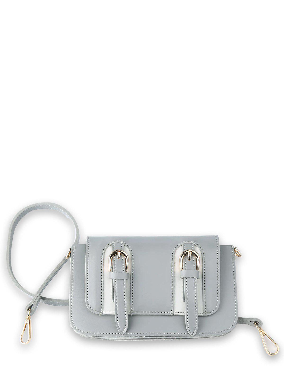 Store Dual Buckles Mini Cross Body Bag
