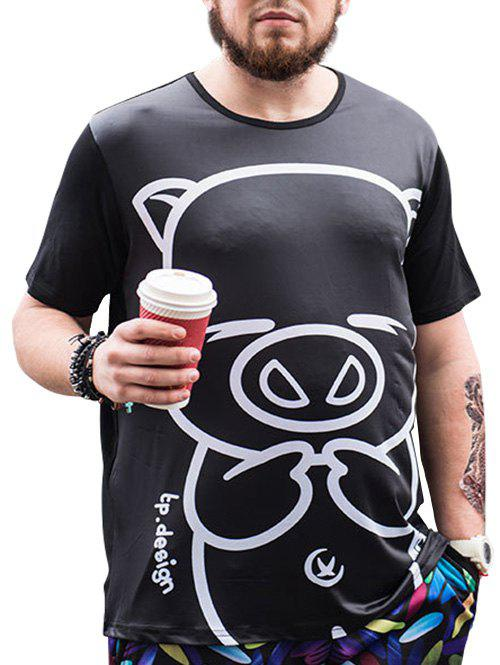 Shops Cartoon Pig Printed Tee