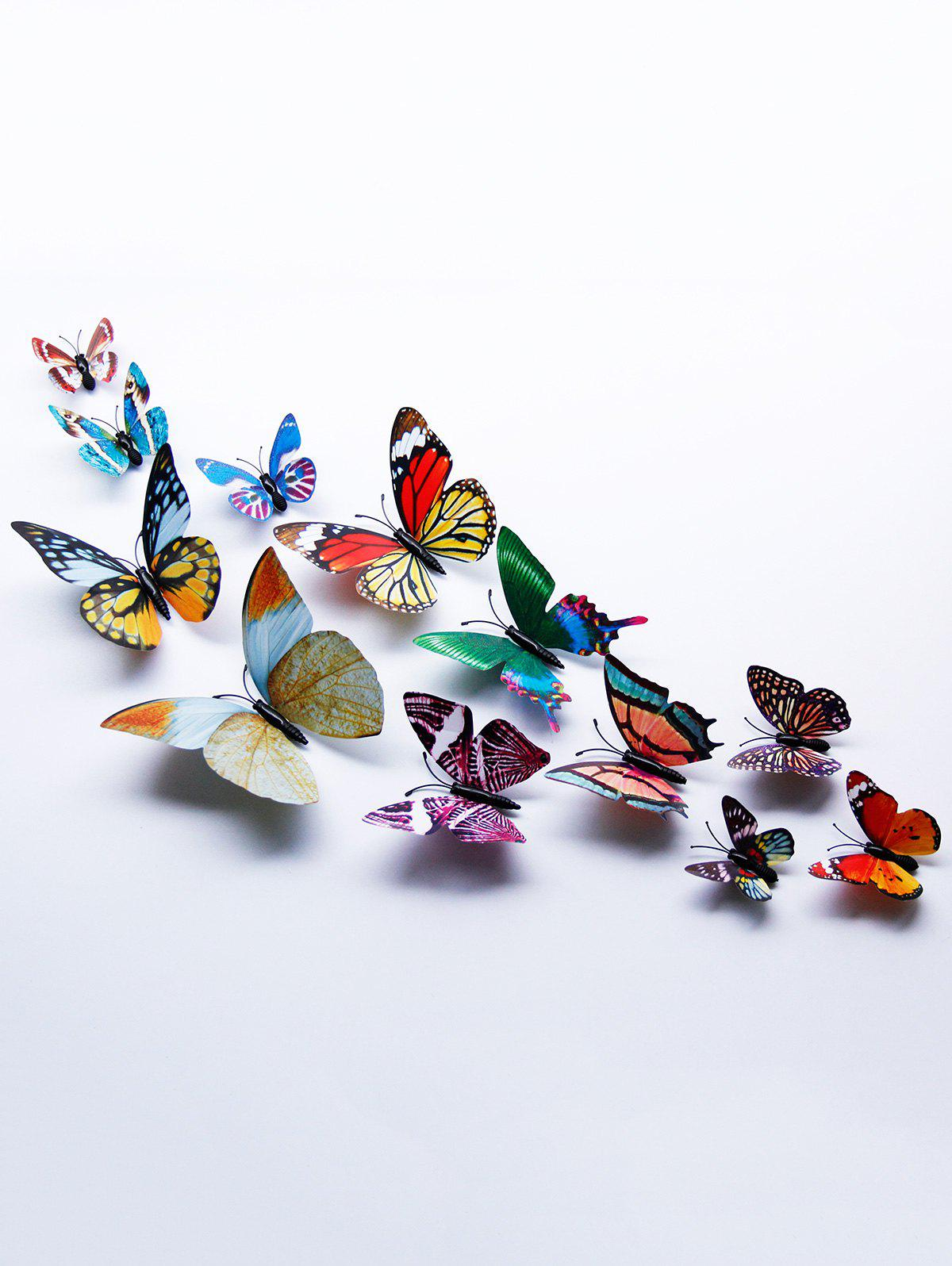 3D Single Wing Butterfly Luminous Wall StickersHOME<br><br>Color: COLORFUL; Wall Sticker Type: 3D Wall Stickers; Functions: Decorative Wall Stickers; Theme: Animals; Material: PVC; Feature: Removable; Weight: 0.0600kg; Package Contents: 1 x Wall Stickers (Set);