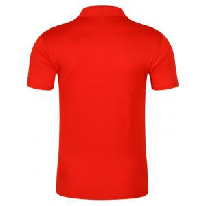 Half Button Quick Dry Plain Polo Shirt - RED XL