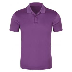 Half Button Quick Dry Plain Polo Shirt