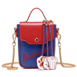 Cartoon Pendants Mini Crossbody Bag