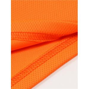 Half Button Quick Dry Plain Polo Shirt - ORANGE 3XL