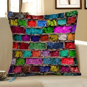 Home Decor Colorful Brick Print Pillow Case