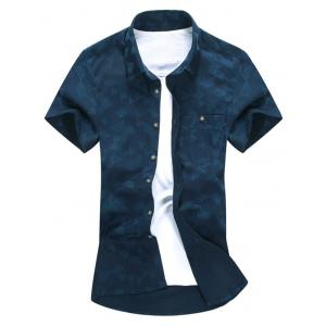Short Sleeve Button Down Chest Pocket Shirt