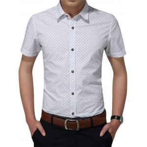 Short Sleeve Tiny Printed Shirt