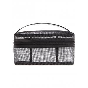 Mesh Makeup Tool Cosmetic Bag - Black