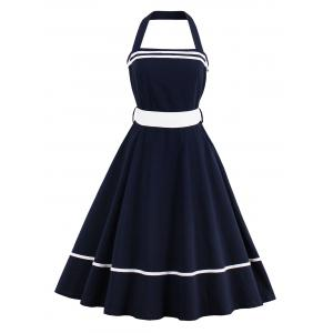 Tie Waist Halter Sailor Vintage Dress