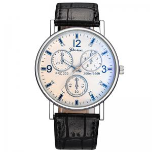 Multi Dial Quartz Watch - White And Black