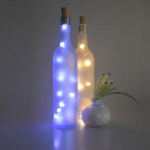 Christmas Decorated 2PCS Bottle Stopper LED String Light - Blue