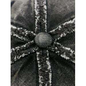 Bowknot Artificial Sanding Denim Baseball Hat - DEEP BLUE
