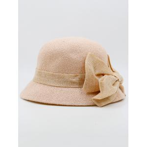 Wide Bowknot Ribbon Embellished Sun Hat - PINK
