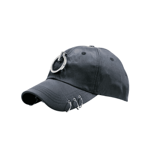 Metallic Circles Embellished Baseball Cap - BLACK