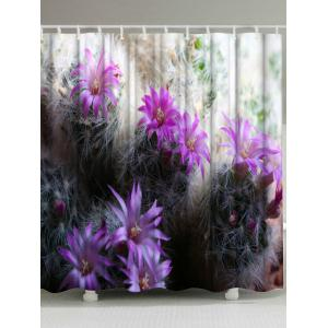 Cactus Washable Fabric Shower Curtain For Bathroom - Colormix - W71 Inch * L79 Inch