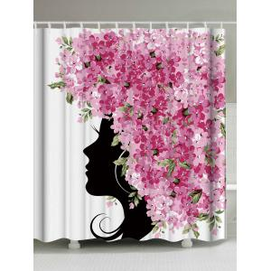 Unique Floral Fairy Bathroom Fabric Shower Curtain