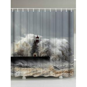 Surge Lighthouse Polyester Fabric Shower Curtain