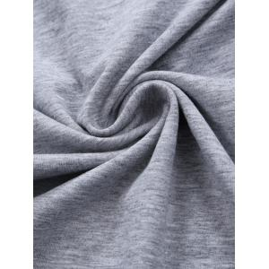 V Neck Embroidered Tee - GRAY 2XL