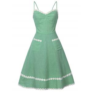 Daisy Applique Slip Dress
