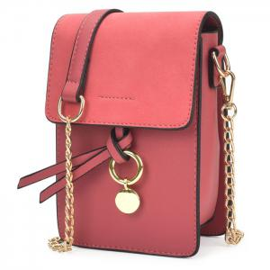 Candy Color Mini Crossbody Bag - Red - Horizontal