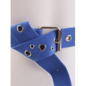 Round Rivet Hole Embellished Pin Buckle Belt -