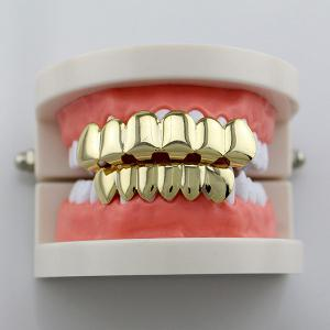 Hip Hop Smooth Top Bottom Teeth Grillz Set -