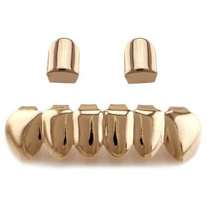 Hip Hop Funny Top Bottom Teeth Grillz Set