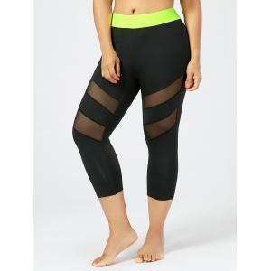 Mesh Leggings Plus Size Capri Fitness Leggings -