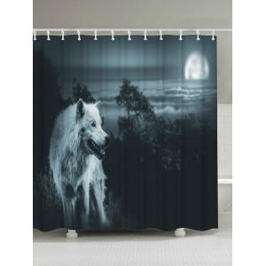Wolf Animal Shower Curtain Bathroom Screen