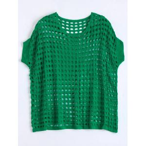 See Through Crochet Knit Plus Size Top