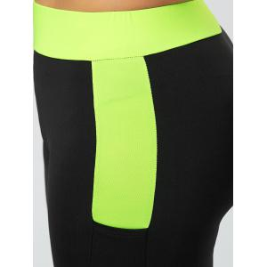 Plus Size Two Tone Workout Tights with Pockets -