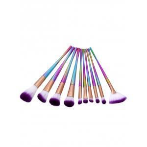 Glitter Canton Tower Makeup Brushes Set - Multicolore