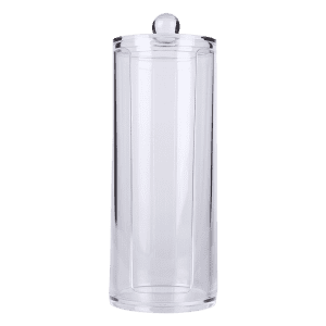 Cylinder Shaped Cosmetic Organizer Makeup Storage Bucket - TRANSPARENT