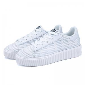 Mesh Breathable Athletic Shoes - WHITE 37
