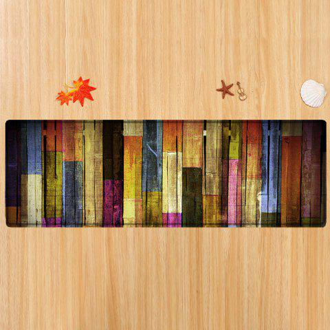 Chic Colorful Wood Flooring Pattern Anti-skid Water Absorption Area Rug - W24 INCH * L71 INCH COLORMIX Mobile
