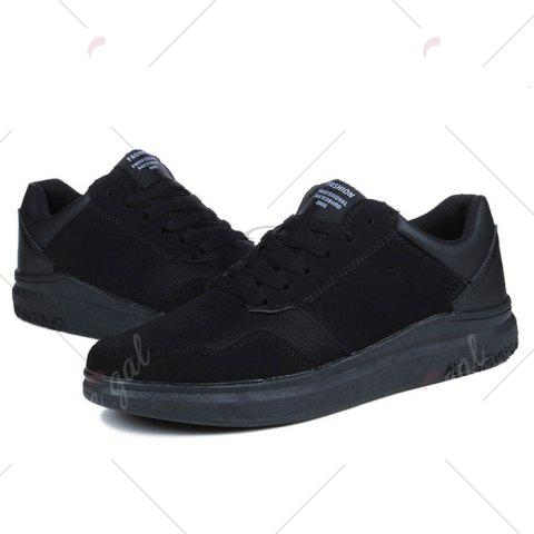 Outfits Breathable Mesh Faux Suede Casual Shoes - 40 BLACK Mobile