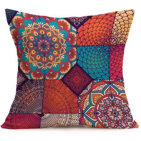 Affordable Bohemian Mandala Floral Print Decorative Pillow Case - 45*45CM COLORFUL Mobile