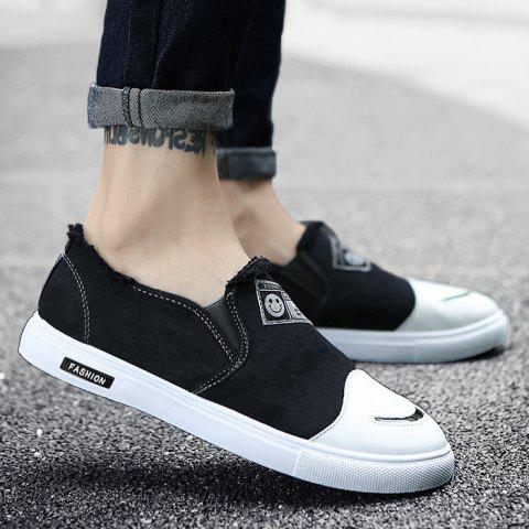 Affordable Slip On Color Block Canvas Shoes