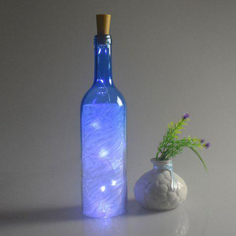Outfits Christmas Decorated 2PCS Bottle Stopper LED String Light - BLUE  Mobile