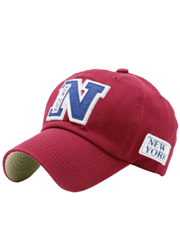 Trendy Sunproof Letters Baseball Hat - RED  Mobile