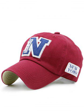 Discount Sunproof Letters Baseball Hat - RED  Mobile