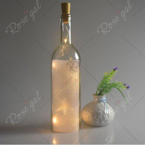 Affordable Party Decorative 2PCS Bottle Stopper LED String Light - YELLOW  Mobile