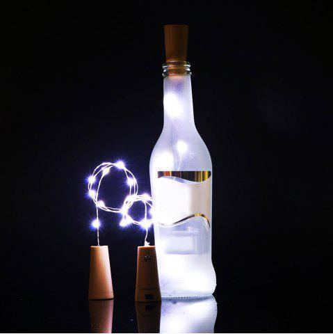 Home Decor Bottle Stopper 2PCS LED String Light - White Light