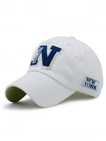Affordable Sunproof Letters Baseball Hat WHITE