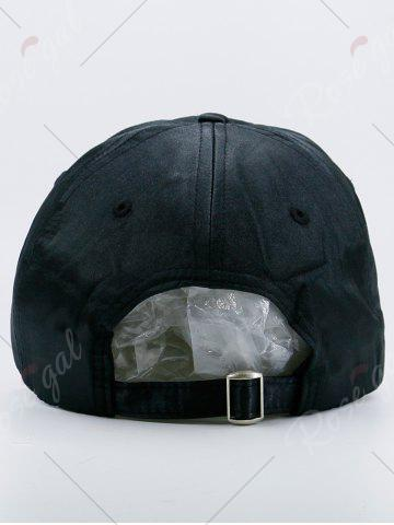 Online Metallic Circles Embellished Baseball Cap - BLACK  Mobile
