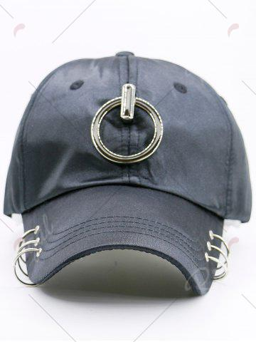 Shops Metallic Circles Embellished Baseball Cap - BLACK  Mobile