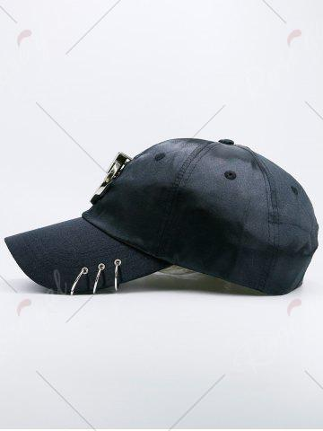 Sale Metallic Circles Embellished Baseball Cap - BLACK  Mobile